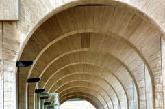 Cemicercles of modern architecture. Arches and lines of modern architecture royalty free stock image