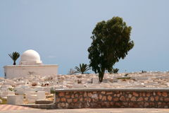 Cemitério árabe imagens de stock royalty free