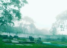 Cemitério fotografia de stock