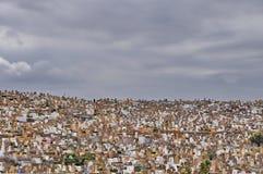 Cemitério aglomerado em Rabat, Marrocos imagem de stock