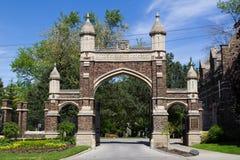 Cemitério agradável da montagem Fotos de Stock Royalty Free