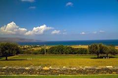 Cemitério alemão Maleme da guerra, Creta, Grécia imagem de stock