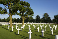 Cemitério americano Fotografia de Stock