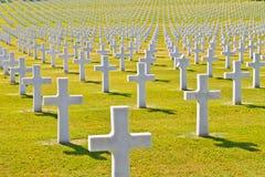 Cemitério americano da guerra foto de stock