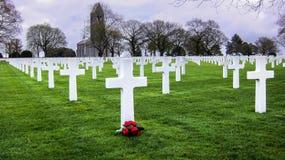 Cemitério americano da guerra Imagens de Stock Royalty Free