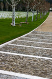 Cemitério americano da segunda guerra mundial imagem de stock