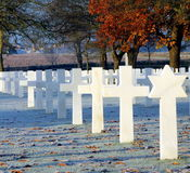 Cemitério americano e Memeorial Imagem de Stock