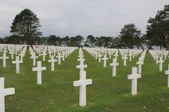 Cemitério americano em Normandy Fotografia de Stock