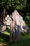 Cemitério antigo na igreja de St Martin em Canterbury Kent South fotos de stock royalty free