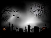 Cemitério assustador Imagens de Stock