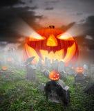Cemitério assustador Imagem de Stock Royalty Free