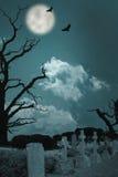 Cemitério assustador Fotografia de Stock