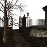 Cemitério assustador Foto de Stock Royalty Free