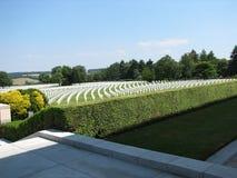 Cemitério Aubel Bélgica Fotografia de Stock Royalty Free
