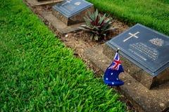 Cemitério britânico Imagens de Stock