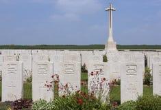 Cemitério britânico da guerra - o Somme - o France Fotografia de Stock