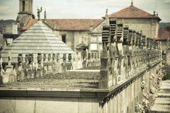 Cemitério católico Imagem de Stock