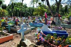 Cemitério colorido, El Salvador Imagem de Stock
