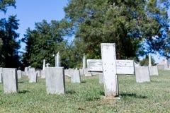 Cemitério confederado em Fredericksburg VA fotografia de stock