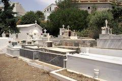 Cemitério crete Greece Fotos de Stock