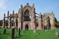 Cemitério da abadia da melrose fotos de stock royalty free
