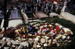 Cemitério da cidade Imagens de Stock