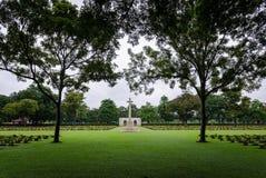 Cemitério da guerra de Kanchanaburi fotografia de stock