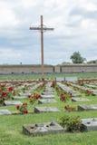 Cemitério da guerra de Terezin Fotos de Stock Royalty Free