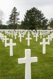 Cemitério da guerra e memorial americanos, Colleville-sur-Mer, França Fotografia de Stock Royalty Free