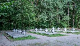 Cemitério da guerra - Janow Lubelski Imagem de Stock