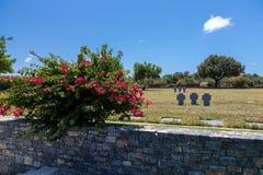 Cemitério da guerra, Maleme, Creta imagens de stock royalty free