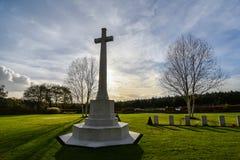 Cemitério da guerra da perseguição de Cannock Fotografia de Stock