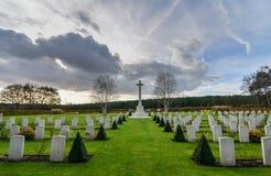 Cemitério da guerra da perseguição de Cannock fotos de stock royalty free
