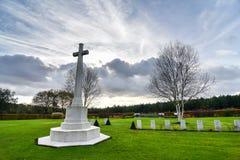 Cemitério da guerra da perseguição de Cannock imagens de stock