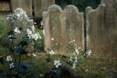 Cemitério da igreja de trindade em Wall Street e em Broadway, Manhattan, Imagem de Stock