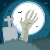 Cemitério da mão do zombi Fotografia de Stock Royalty Free