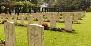 Cemitério da segunda guerra mundial, memorial aos soldados Fotos de Stock