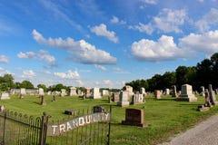 Cemitério da tranquilidade - resto na paz imagem de stock