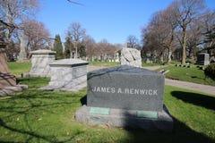 Cemitério da Verde-madeira em Brooklyn, NY Imagem de Stock