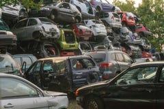 Cemitério de automóveis do carro Fotos de Stock