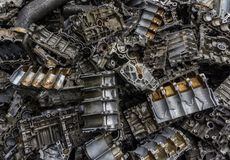 Cemitério de automóveis do motor Fotografia de Stock