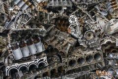 Cemitério de automóveis do motor Imagem de Stock