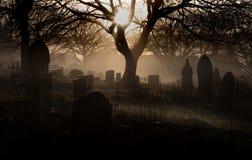 Cemitério de Halloween foto de stock