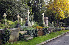 Cemitério de Highgate das lápides Fotos de Stock Royalty Free