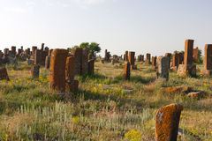 Cemitério de Khatchkar de Noraduz foto de stock