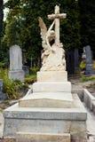 Cemitério de Lychakiv em Lviv, Ucrânia tombstone imagem de stock royalty free