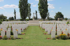 Cemitério de madeira Bélgica de Oosttaverne CWGC da primeira guerra mundial Fotos de Stock Royalty Free