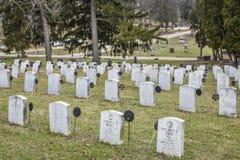 Cemitério de Oakhill - Janesville, WI Fotografia de Stock Royalty Free