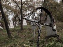 Cemitério de Poienile Izei fotografia de stock