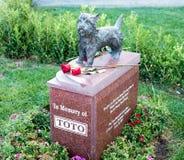 Cemitério de Toto Memorial In Hollywood Forever - jardim das legendas Fotografia de Stock